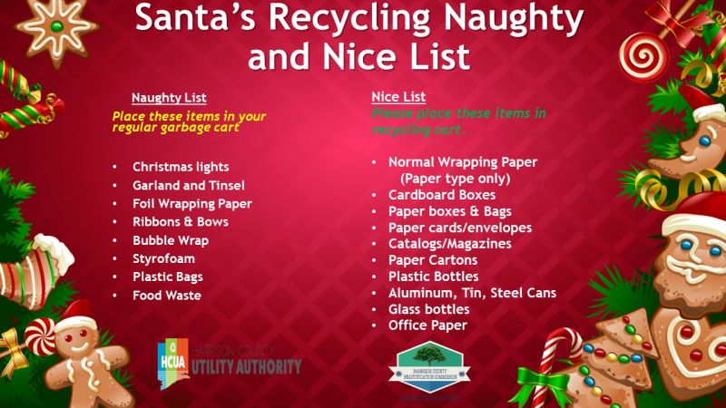 Holiday Recycling List